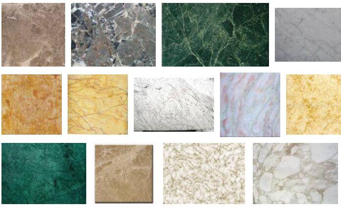 Marmura. Materiale de constructie utilizate la realizarea semineelor.