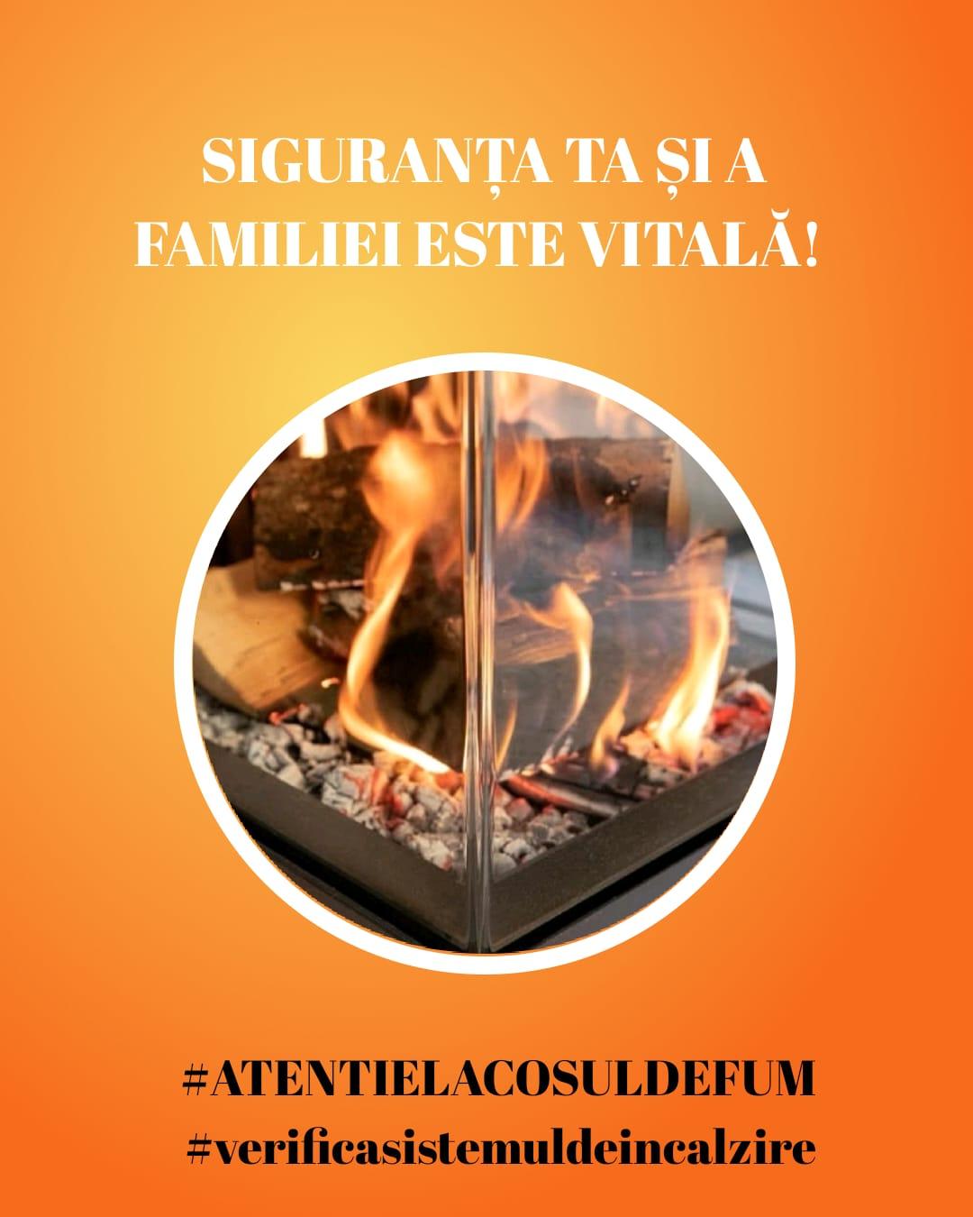 ATENȚIE LA COȘUL DE FUM! – Săptămâna prevenirii incendiilor