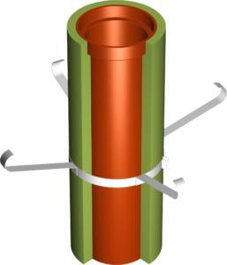 Rohr TEC 120 mit Schelle auf Iso